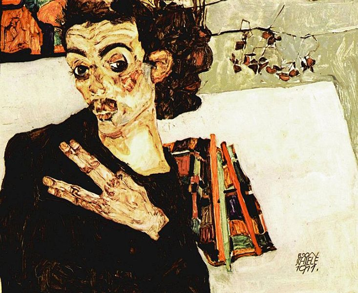 leopold schiele's woman was tall