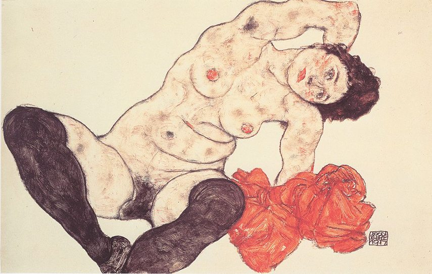 Sitting Girl is a part of leopold schiele's Schiele's popular collection