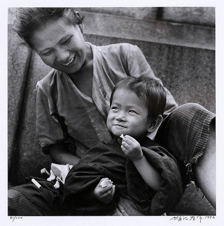 Eikoh Hosoe-Mother and Child, Ginza-1952