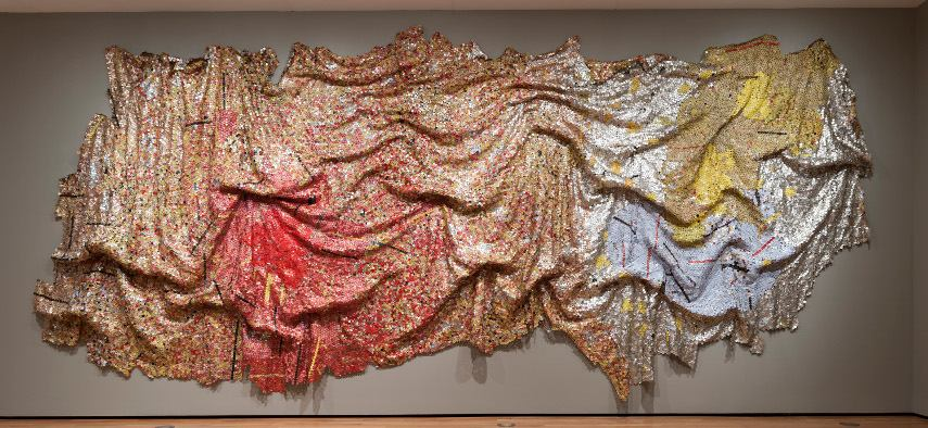 El Anatsui - Gravity and Grace, 2010 - Image via huffingtonpostcom