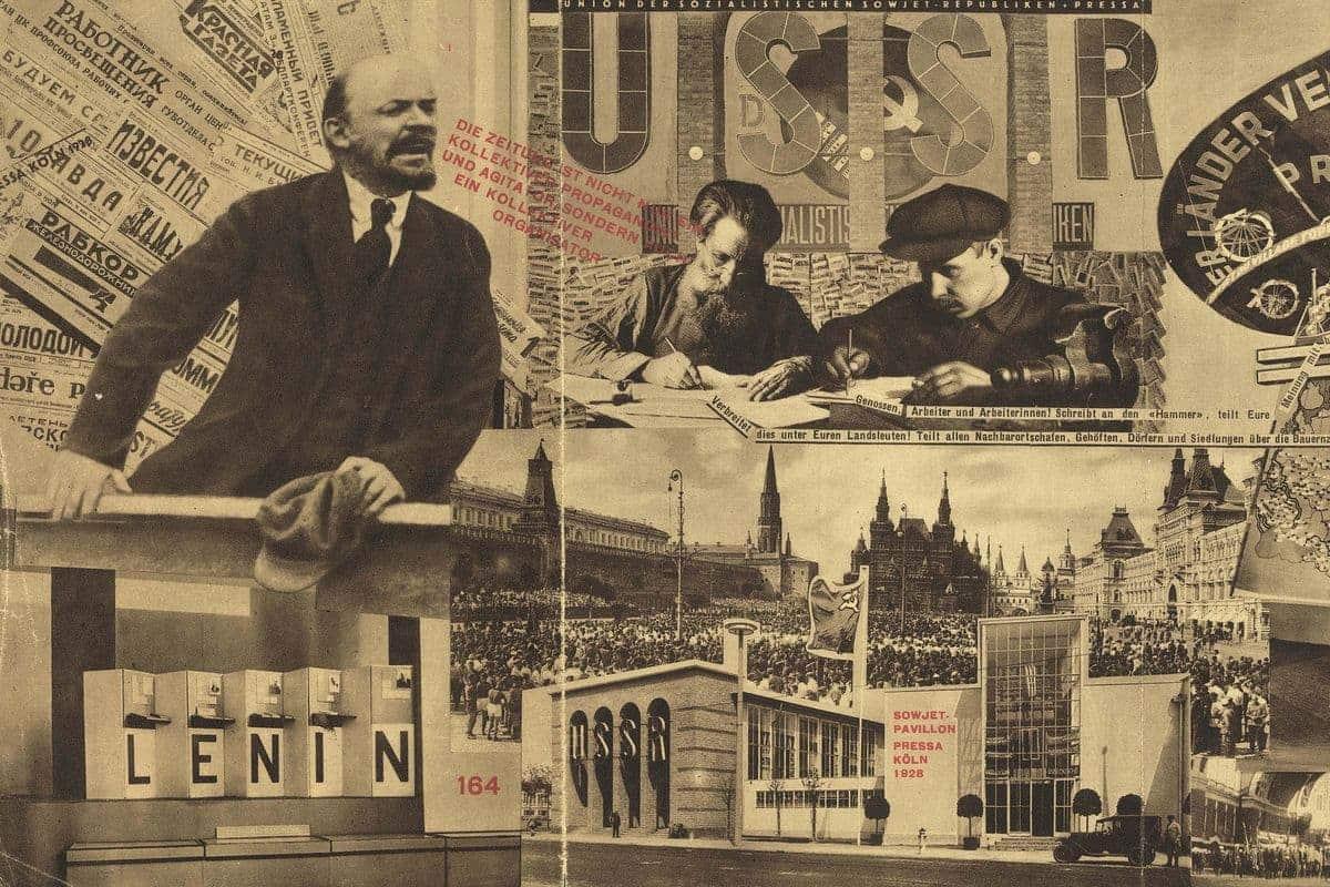 El Lissitsky - Unstoppable photomontage (detail)