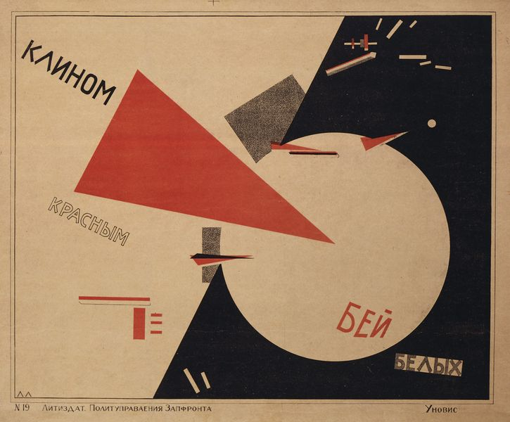El Lissitzy, Beat the Whites with the Red Wedge, 1920