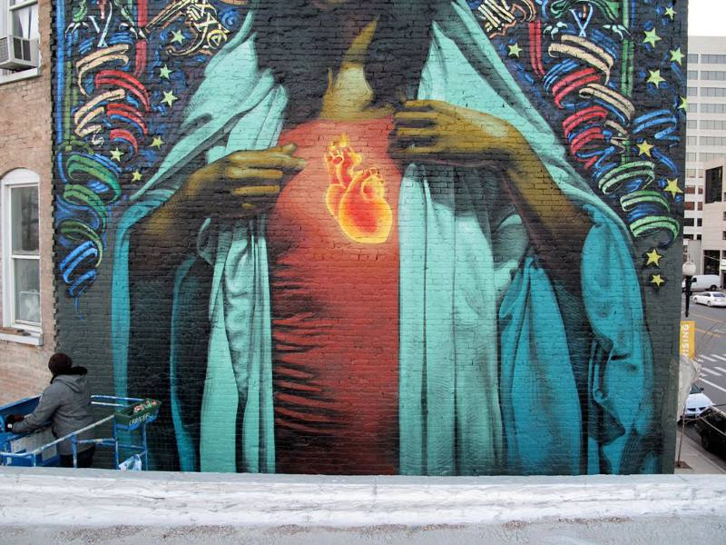 El Mac x Retna - Ave Maria - Salt Lake City, 2009 - 1