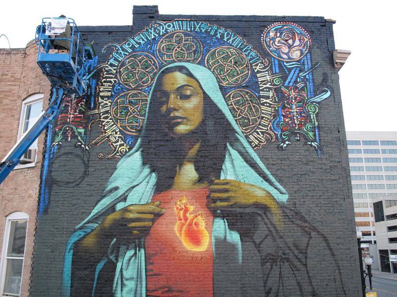 El Mac x Retna - Ave Maria - Salt Lake City, 2009 - 2
