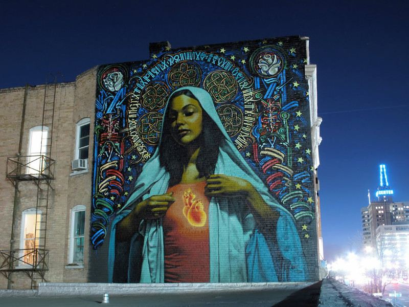 El Mac x Retna - Ave Maria - Salt Lake City, 2009 - 3