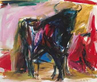 Elaine de Kooning-Standing Bull #2-1959