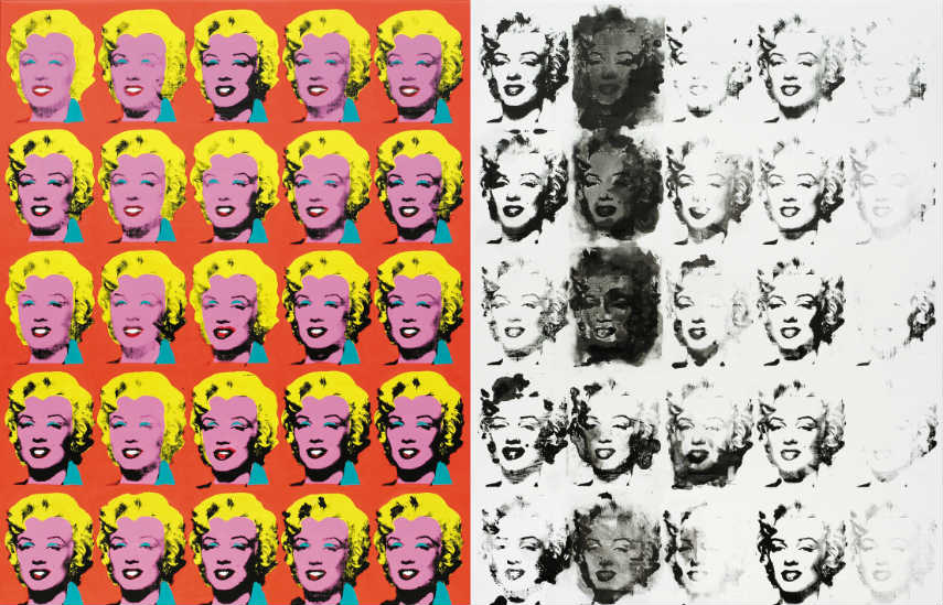 Her pieces included comprehensive search of paintings of andy warhol, the both that have been on view at gallery and museum exhibition and at his home and store