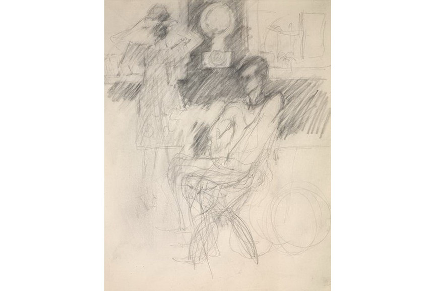 Elaine de Kooning - Frank O'Hara in George Segal's Studio