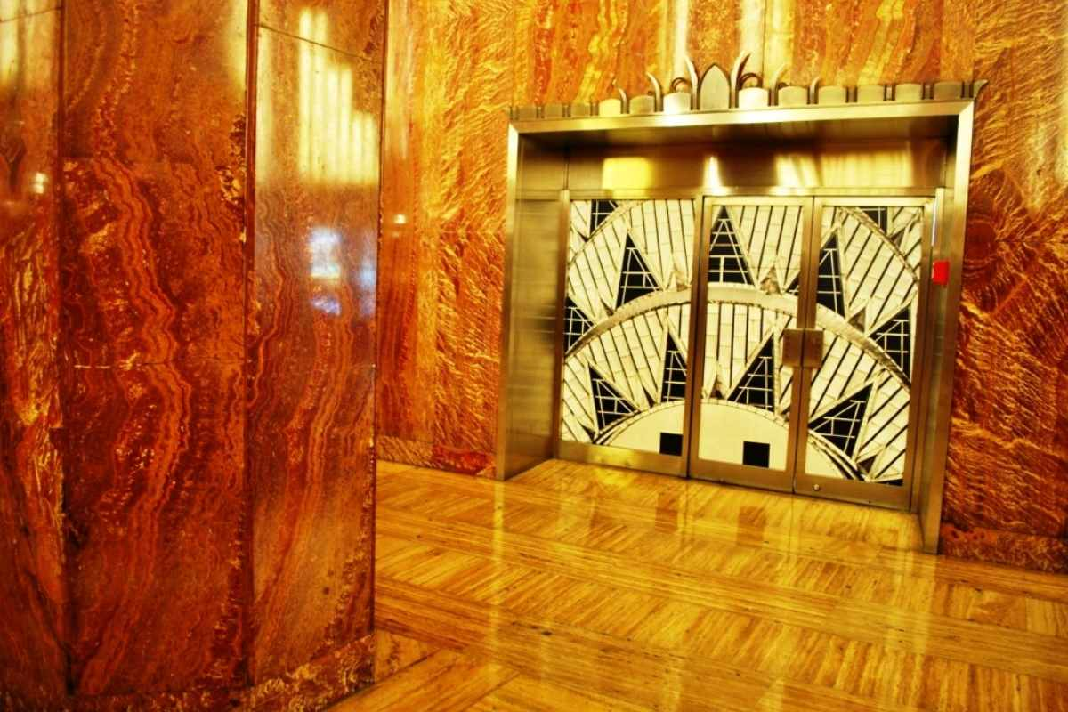 Art Deco patterns and designs in art and architecture were used for a variety of interior design spaces