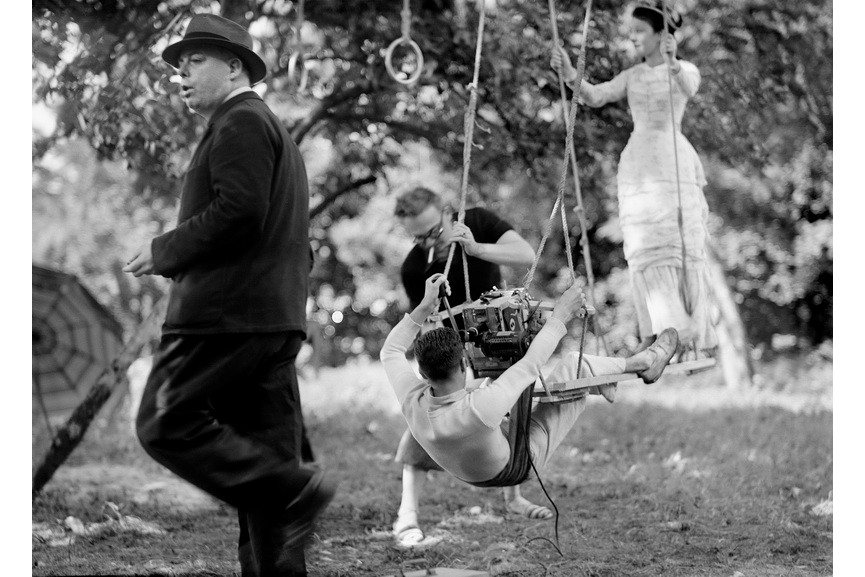 Eli Lotar - Filming of Jean Renoir's film A Country Party