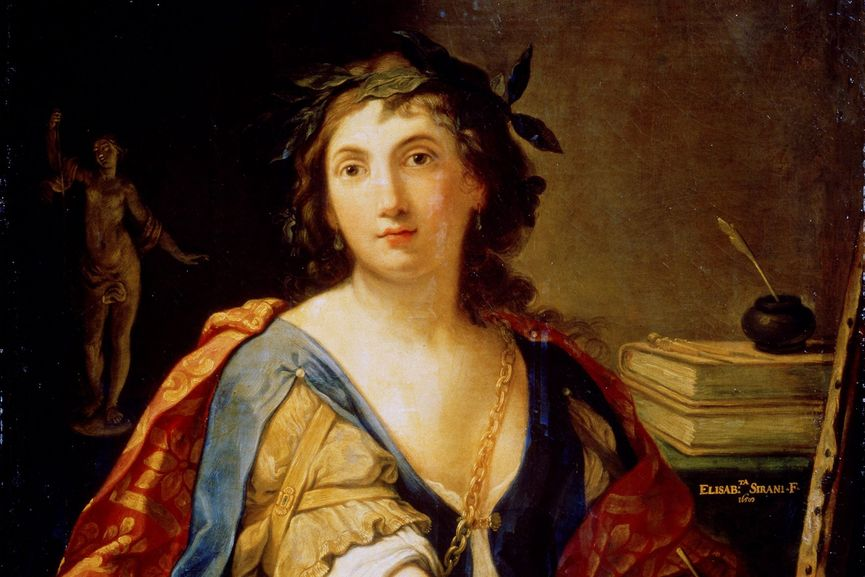 Elisabetta Sirani - Self-Portrait as Allegory of Painting (detail), 1658; new research on her new work has been recently published