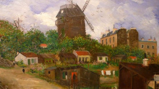 Elisee Maclet - Paris view of Montmartre The mill of the pancake (detail), photo credits - Antic Store