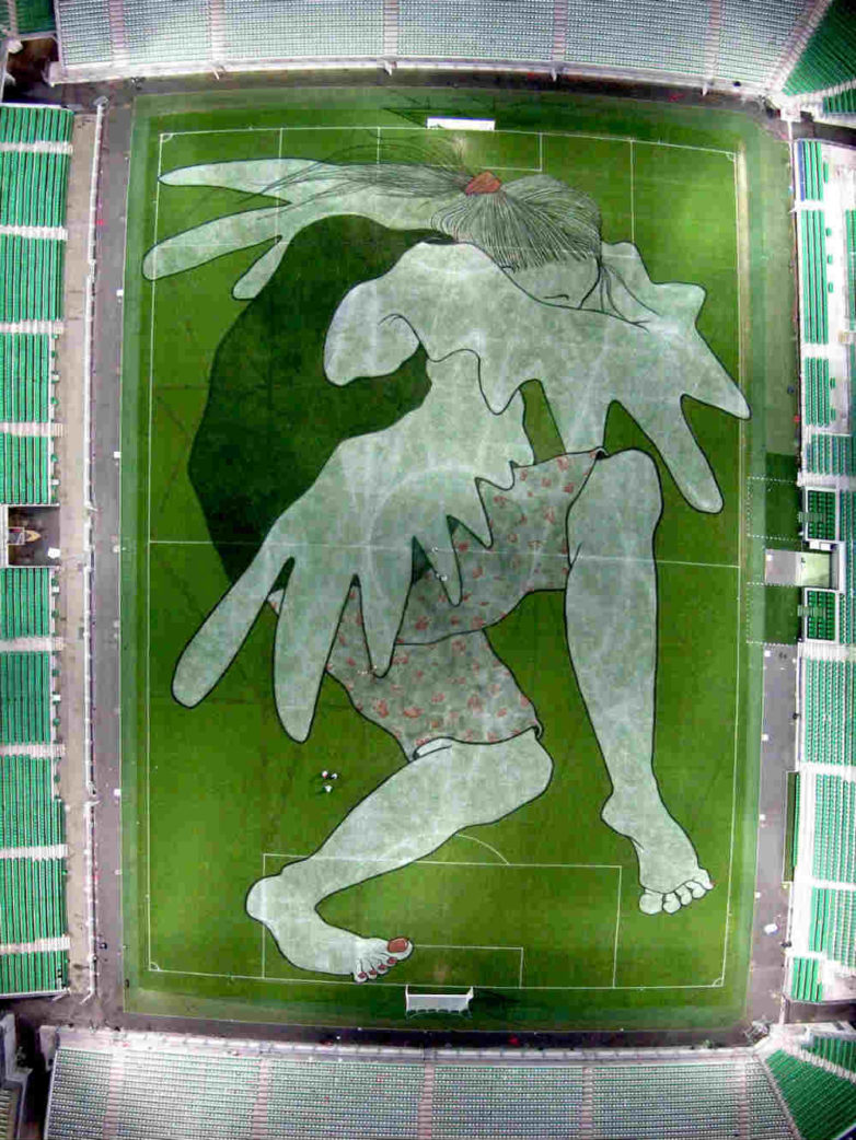 Ella & Pitr - Brigitte-Angélique Des Braises de la Marmite, Geoffroy Guichard Stadium in St Etienne, 2016, Image copyright of the artists