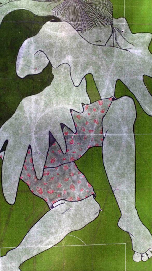 Ella & Pitr - Brigitte-Angélique Des Braises de la Marmite (detail), Geoffroy Guichard Stadium  in St Etienne, 2016, Image copyright of the artists