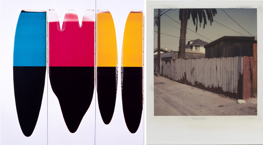 Ellen Carey - Pulls (CMY), 1997 - Dennis Hopper - Los Angeles, Back Alley, 1987