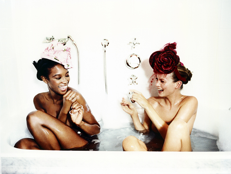 Ellen von Unwerth Bathtub, Naomi Campbell and Kate Moss