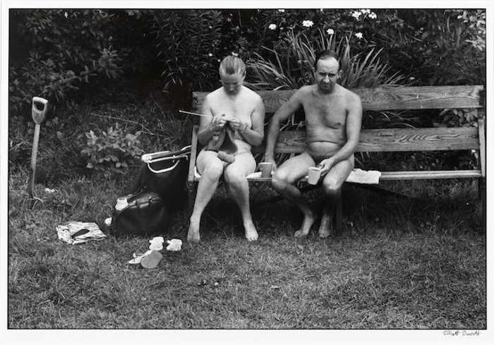 Elliott Erwitt-Nudists (Kent, England)-1968