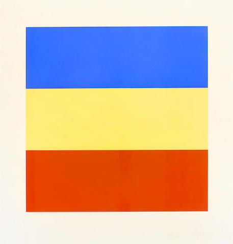 Ellsworth Kelly-Blue, Yellow, Red-1973