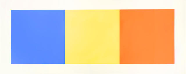 Ellsworth Kelly-Blue, Yellow and Red Squares-1971