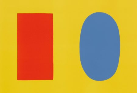 Ellsworth Kelly-Orange And Blue Over Yellow (Orange Et Bleu Sur Jaune) (Axsom 30)-1965