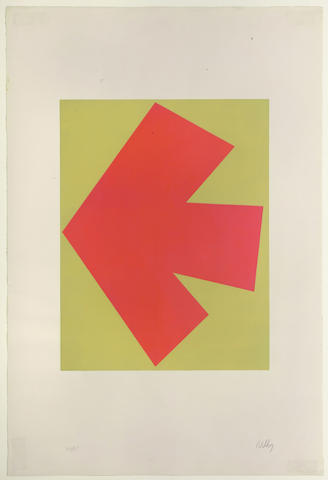 Ellsworth Kelly-Orange over Green;-1964