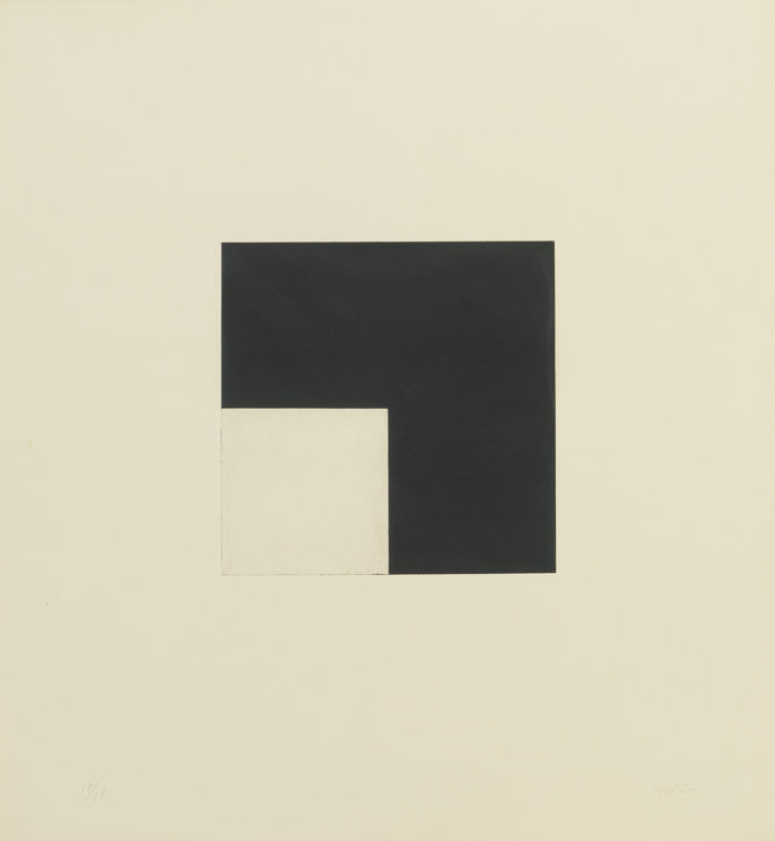 Ellsworth Kelly-Square With Black (Axsom 194)-1981