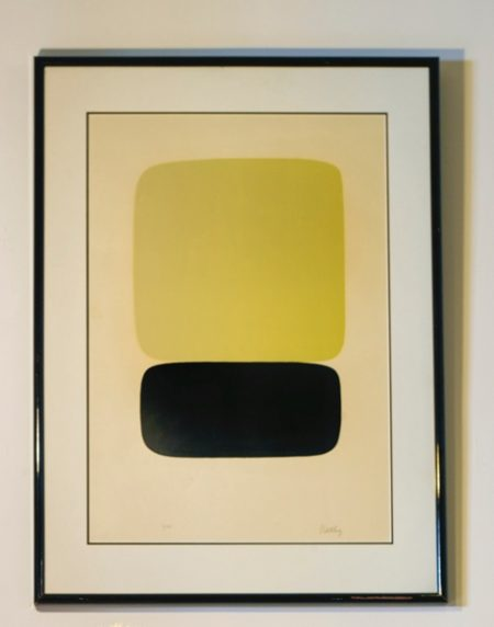 Ellsworth Kelly - Yellow Over Black (Jaune Sur Noir) (Axsom 23)-1965