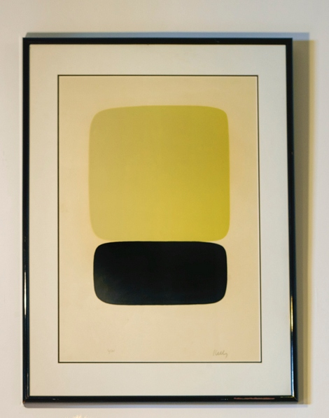Ellsworth Kelly - Yellow Over Black (Jaune Sur Noir) (Axsom 23)-1965