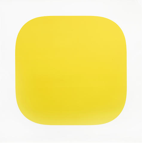 Ellsworth Kelly-Yellow from Second Curve series-1975
