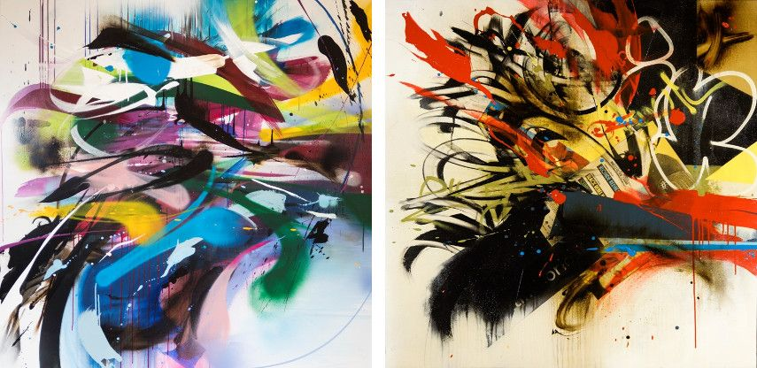 Emanuele Vittorioso - Swallow, 2015 (Left) / Dirty, 2014 (Right)