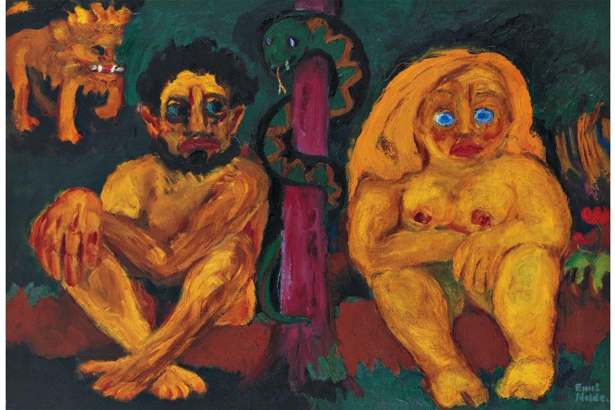 Emil Nolde - Paradise Lost, 1921
