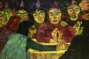Emil Nolde - Pentecost, 1909