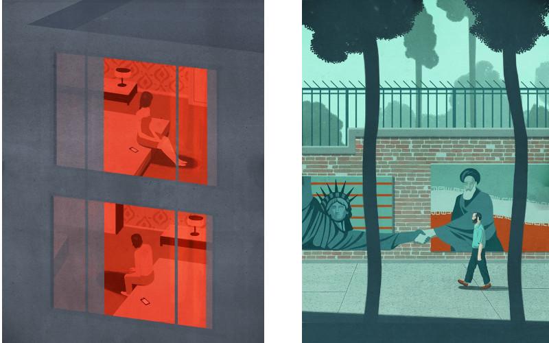Ponzi - Neighbors (Left) / Tehran s Promise, The New Yorker (Right)