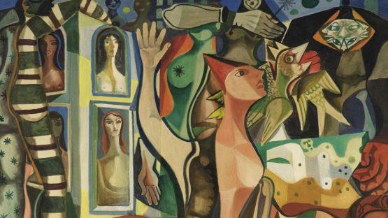 Emiliano di Cavalcanti (Brazilian 1897-1976)  Sonhos do carnaval  1950s,