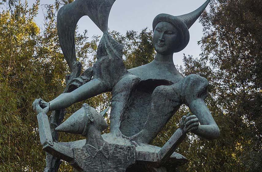 Emilio Greco - Monument to Pinocchio (detail), 1953 - via settemuse.it