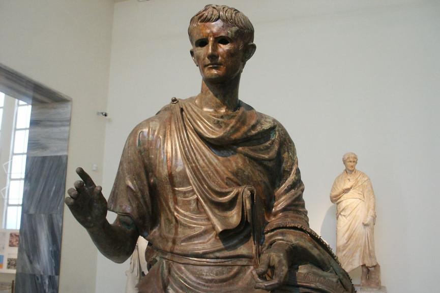 Emperor Octavian Augustus bronze sculpture wax metal clay statue edition bronze sculpture metal clay process