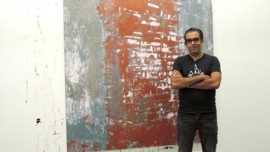 Enoc Perez in his studio, contemporary art
