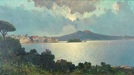 Ensel Salvi - View Of Naples (detail)