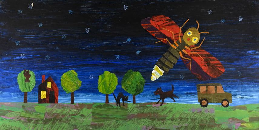 Eric Carle - Alternate illustration for The Very Lonely Firefly. Chrysler Museum Norfolk