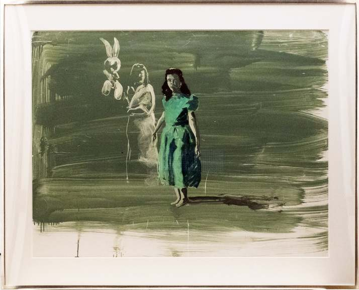Eric Fischl - Study for Girl with Green Dress, 1987
