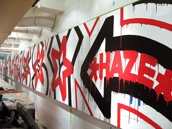 Eric Haze - installation for Stussy Tokyo, Japan, 2010, photo credits - artist