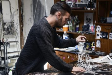 Eric Lacan - artist in his studio