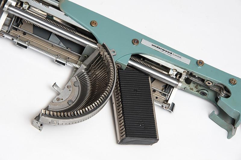 Eric Nado - Typewriter Gun Series (detail), 2012-2014, sculpture