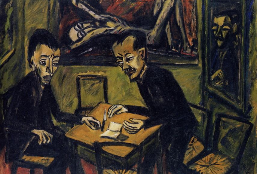 When the artist moved from Berlin in 1912, Rottluff made work much more similar to Symbolism