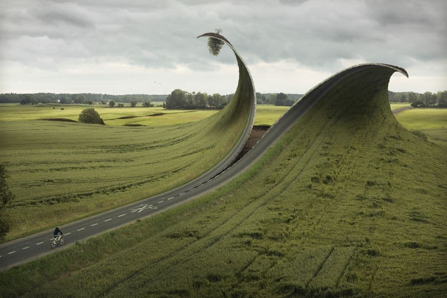 Erik Johansson - Cut and Fold, 2012