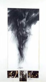 Ernest Pignon-Ernest-Dessin pour les Aborigenes-1984