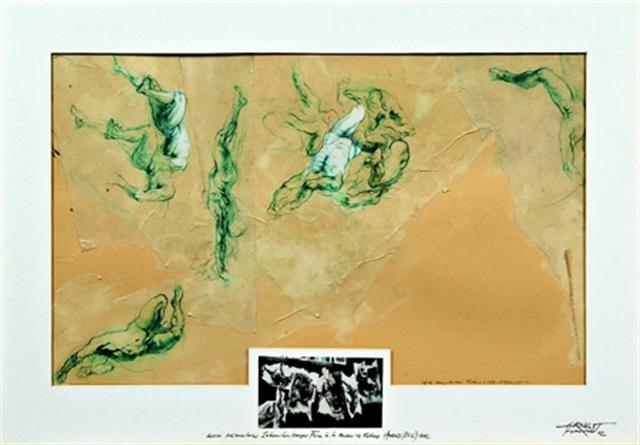 Ernest Pignon-Ernest-Etude pour Anvers (Rubens)-1982
