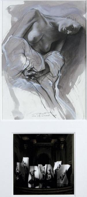 Ernest Pignon-Ernest-Etude pour Extases-2008