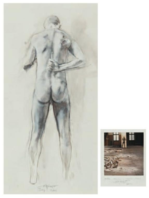 Ernest Pignon-Ernest-Le mur Artaud (Buanderie de l'hopital d'Ivry)-1997