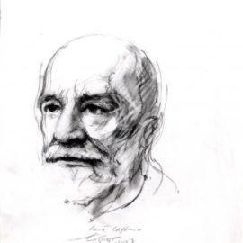 Ernest Pignon-Ernest-Portrait de Robert Cassin-2008